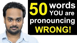 Download 50 Words You're Pronouncing WRONGLY Right Now!   Top 50 Mispronounced English Words, Common Mistakes Video