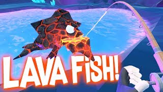 Download Catching Legendary Lava Fish in the Secret Underground Cave! - Crazy Fishing HTC Vive VR Video