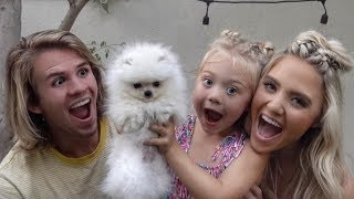 Download WE SURPRISED OUR DAUGHTER WITH HER FIRST PUPPY!!! (CUTEST REACTION EVER) Video