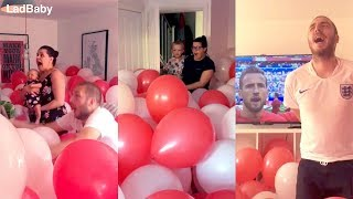 Download When dad fills the house with balloons for the World Cup! 🦁🦁🦁 Video