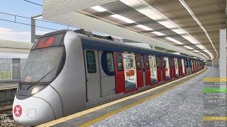 Download OpenBVE HD: KCR/ MTR Kinki Sharyo SP1900 East Rail Line Train Making Stops from Lo Wu to Hung Hom Video