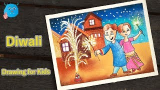 Download How to Draw Kids Celebrating Diwali Festival Scene Drawing Step by Step Video