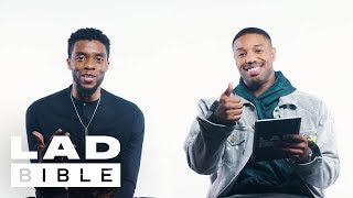 Download Black Panther's Chadwick Boseman & Michael B. Jordan On British Girls, Daniel Kaluuya And Spiderman Video