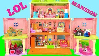 Download LOL Surprise Dolls Move into a New Mansion House with Custom Bedrooms Video