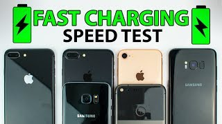 Download iPhone 8 vs S8 vs iPhone 7 vs S7 vs Pixel XL - FAST CHARGING SPEED TEST! Video