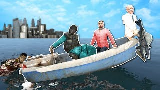 Download BOAT BUILDING IN ZOMBIE APOCALYPSE! - Garry's Mod Gameplay - Gmod Zombie Apocalypse Roleplay! Video