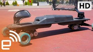 Download LEIF's electric, snowboard style freeboard | Engadget Video