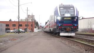 Download (HD) IDOT 4611 (SC-44 Charger) Amtrak 941 into Eugene,Oregon Video