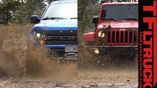 Download Ford Raptor vs Jeep Wrangler (Part 1): The Ultimate Off-Road Mashup Challenge Video