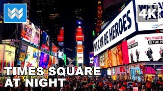 Download Walking around Times Square at Night in New York City 【4K】 Video
