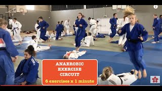 Download JUDO anaerobic exercise circuit 6 exercises x 1 minute Video