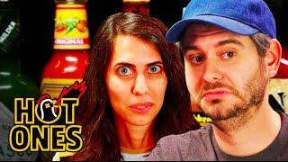 Download H3H3 Productions Does Couples Therapy While Eating Spicy Wings | Hot Ones Video