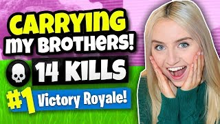 Download CARRYING MY 2 BROTHERS TO A WIN ON FORTNITE Video