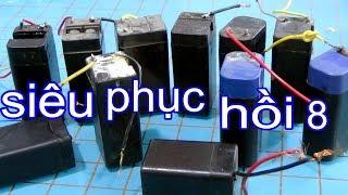 Download Cách phục hồi pin trong vợt muỗi và ắc quy xe máy TIP8 battery recovery 5v Video