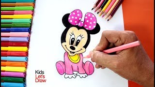 Download Dibujo de MINNIE MOUSE BEBE | Aprende cómo dibujar a MINI MOUSE paso a paso! Video
