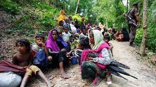 Download Rohingya Muslims flee Myanmar for Bangladesh Video