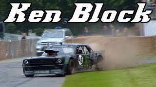 Download Ken Block's Hoonicorn Mustang at Goodwood 2015 (drifts and donuts) Video