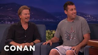 Download Adam Sandler Warned Chris Farley Not To Beat Up David Spade - CONAN on TBS Video