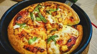Download Pizza Hut in INDIA is DELICIOUS! Spicy INDIAN Pizza | Kolkata, India Video