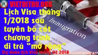 Download Lịch visa tháng 01/2018 và dự đoán lịch visa tháng 02/2018 !!! Video