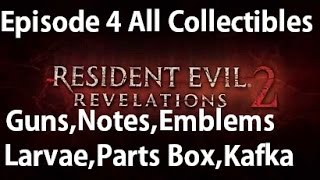 Download Resident Evil Revelations 2 - Episode 4 - All Collectibles Guns, Notes, Larvae, Emblems Video