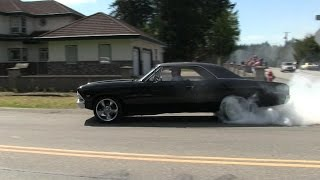 Download Crazy street accelerations and burnouts,insane sound of muscle cars,rat rods and super cars Video