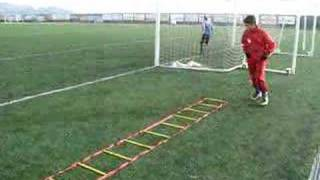 Download Speed ladder drills with band. Quick feet for soccer. Video