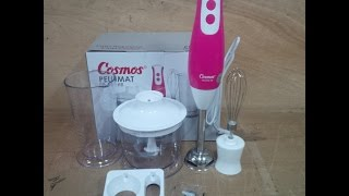 Download Hand Blender 3in1 Cosmos cb-653 HB (pink) Video