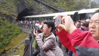 Download قرية فلام و قطارها البانورامي النرويج Flåm Railway Norway Video