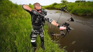 Download BowFishing A Creek HIDDEN In The City!!! (Lucky Shot) Video