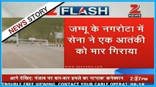 Download One terrorist shot down in army encounter in Nagrota Video