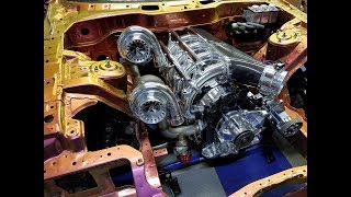 Download 4 rotor twin turbo 1400hp engine build mazda Rx7 Defined Autoworks Video