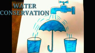 How To Draw Save Water Poster Step By Step