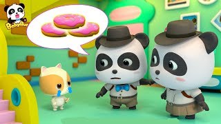 Download Did Kitten Timi Take the Donuts? | Baby Panda Detective | Kids Pretend Play | BabyBus Song Video