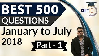 Download 500 Best Current Affairs of last 7 months - Part 1 - January to July 2018 Video