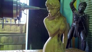 Download 5-Axis CNC Art [Woman] Video