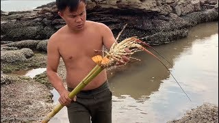 Download Primitive Technology with Survival Skills Catch Crab - Snake and Lobster Giant (looking for food) Video