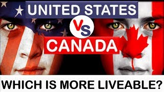 Download United States (USA) vs Canada - Which country is more liveable? (Animated) Video