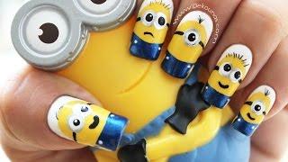 Download Decoración de uñas Minions - Minions nail art tutorial Video