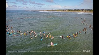 Download Mickey McCarthy OBX Paddle Out by Drone Video