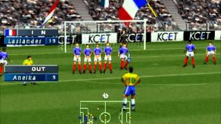 Download ISS Pro Evolution - PS1 Gameplay - France vs. Brazil Video