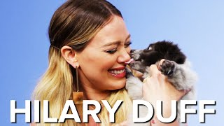 Download Hilary Duff Plays With Puppies While Answering Fan Questions Video