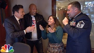 Download Jimmy and Dwayne Johnson Surprise 'Tonight Show' Staffer with Military Homecoming Video