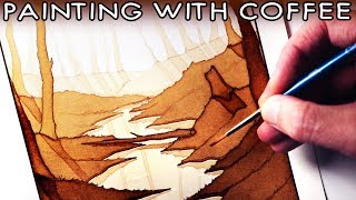 Download Painting with COFFEE - ART CHALLENGE Video