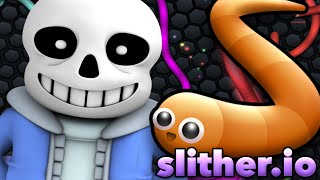 Download SANS PLAYS SLITHER.IO (Undertale Roleplay) Video