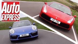 Download Ferrari 488 GTB vs Porsche 911 Turbo S: turbo supercars fight it out Video