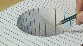 Download Drawing a Round Hole - Trick Art with Graphite Pencil - By Vamos Video