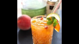 Download Cocktail Recipe: Peach & Bourbon Smash by CookingForBimbos Video