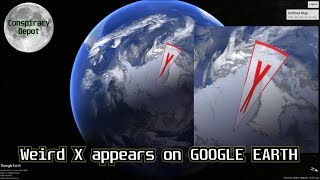 Download HUGE RED X on Google Earth over ANTARCTICA Video