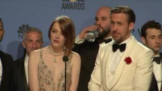 Download Ryan Gosling, Emma Stone & La La Land - Golden Globes 2017 - Full Backstage Interview Video